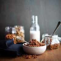 Chocolate Granola from @GourmandintheKitchen.com (use palm shortening for butter)
