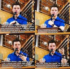 Sounds funny that's why I love Chris