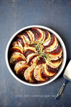 Potato, Beet, and Ambrosia Apple Tian