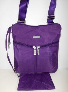 BAGGALLINI  NEW WITH TAG Horizon Crossbody Bag Violet Purple Nylon Organizer     #Baggallini #Crossbody
