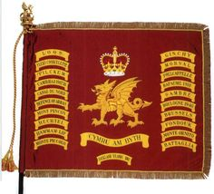 The Queen's Colours of the Welsh Guards.