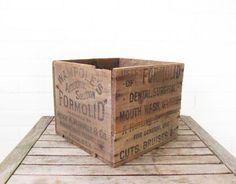 Vintage 1920s Advertising Box  Rare Antique Wood by @LaRouxVintage