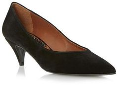 Dune BERTIE LADIES ALMO - BLACK Pointed Toe Kitten Heel Court Shoe on shopstyle.com.au