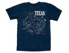 Texas Adult Tee Navy