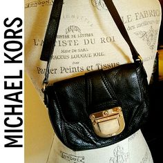 "Michael Kors Leather Crossbody Bag My first MK from 2010!! Used only when I went out. Scratches on hardware on front as shown but no stains, rips or tears! Such a cute bag!! Strap has a 23""-28"" drop - AUTHENTIC - comes with handling card! Michael Kors Bags Crossbody Bags"