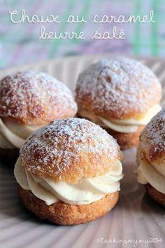 choux au caramel beurre salé maison, Recette de choux au caramel beurre salé maison par cookingmymy - Food Reporter
