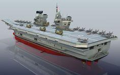HMS Queen Elizabeth R08  Lowpoly model