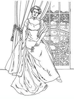 noblewomen_15 adult and teen coloring pages
