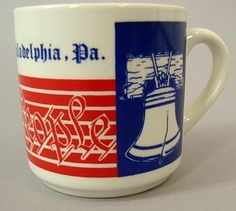 Vintage Philadelphia Pa. We The People Liberty Bell Coffee Mug Cup Pennsylvania #Sylink