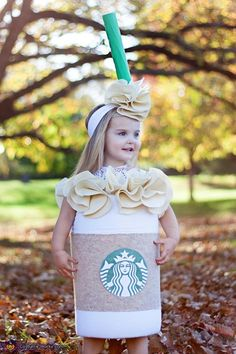 Pin for Later: 15 Insanely Adorable Starbucks Halloween Costumes For Kids of All Ages Tall Caramel Frappuccino