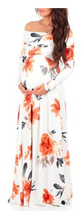 $35.99 | Gorgeous white floral maternity dress on Amazon | Must have for your maternity wardrobe | maternity style | maternity clothes | maternity dress | maternity fashion | Pregnancy fashion | pregnancy | #affiliate