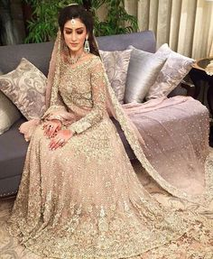 Bridal lahnga in lilac pink and silver color M 115 – Nameera by Farooq Indian Wedding Wear, Pakistani Wedding Dresses, Indian Dresses, Wedding Hijab, Indian Outfits, Bridal Dress Design, Bridal Style, Bridal Dresses Online, Dress Online