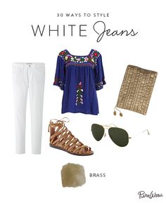 How to Style White Jeans via @PureWow