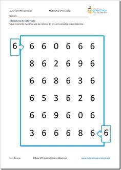 Следует каминито, набрав только 6 числа, и найдет выход из лабиринта. Виды деятельности, числа 6 для дошкольников. Нажмите на изображение