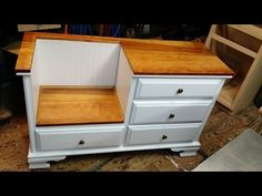 He Rips Off The Top Of An Old Dresser, But What He Cuts Out Next? Incredible...