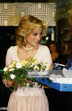 """March Princess Diana attending """"The Starlight Express"""" Premiere in aid of the Birthright charity at the Apollo Theatre, London. (date according to Getty Images). Princess Diana Hair, Princess Diana Fashion, Princess Diana Pictures, Princess Diana Family, Princes Diana, Royal Princess, Princess Of Wales, Lady Diana Spencer, Grace Kelly"""