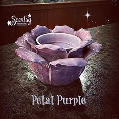 Petal Purple Scentsy Warmer. Beautiful new warmer that comes in purple or teal green my favorite out this Spring 2015