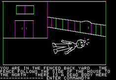 Hi-Res Adventure #1: Mystery House Apple II Uh oh, a dead body!