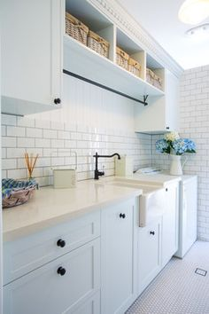 Hampton Style Laundry - traditional - Laundry Room - Canberra - Queanbeyan - Makings of Fine Kitchens & Bathrooms