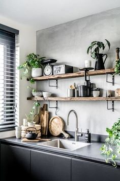 Modern Kitchen Interior Vintage Kitchen Design and Decor Ideas. Küchen Design, Home Design, Interior Design, Design Ideas, Modern Design, Design Inspiration, Wall Decor Design, Vintage Industrial Decor, Kitchen Industrial