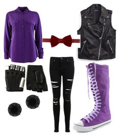 Fnaf withered Bonnie inspired outfit by mangle87 on Polyvore featuring polyvore, fashion, style, Equipment, Tommy Hilfiger, Miss Selfridge, Anne Klein, Majesty Black and Lanvin