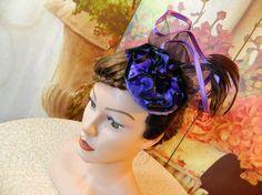 Fascinator purple Gothic Steampunk Lolita Headpiece Headdress clubbing Damenhut Anlasshut Hut #steampunkhat