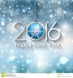 Happy New Year Bauble Background Stock Vector - Image