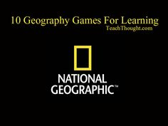 This website has 10 geography games for students to play on the computer or on…