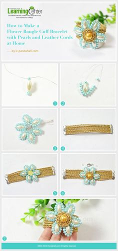 Flower Bangle Cuff Bracelet