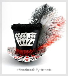 mini card top hat | Top Hat -- With the rest of card costume and black/card bow?