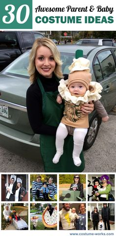 30 Awesome DIY Parent & Baby Halloween Costume Ideas Source by worlds Baby Girl Halloween Costumes, Hallowen Costume, Toddler Costumes, Creative Halloween Costumes, Halloween Kostüm, Costume Ideas, Starbucks Halloween Costume, Funny Baby Costumes, Diy Baby Costumes