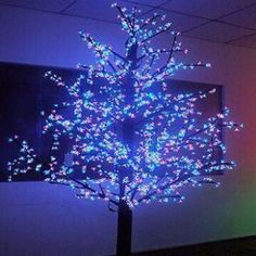 Christmas Decorative LED Cherry Tree Light, Outdoor IP65, 350cm, 1,544 Pieces LED, RGB Color