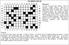 Mots croisés de mardi gras Mardi Gras, Learn French, Crossword, Images, Miniature, Search, Children, Carnival, Crossword Puzzles