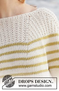 Breaking Sunlight pattern by DROPS design Baby Knitting Patterns, Free Knitting, Stitch Patterns, Drops Design, Laine Drops, Drops Paris, Baby Overall, Knit Crochet, Crochet Hats