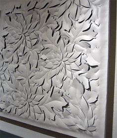 wall art with leather cutting
