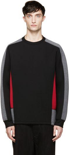 Kolor Black Neoprene Sweatshirt