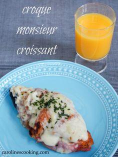 croque monsieur croissant