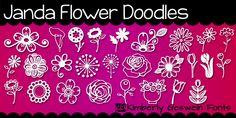 Janda Doodles de la flor | dafont.com