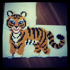 Tiger Hama Bügelperlen by annawi