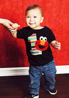 Hey, I found this really awesome Etsy listing at https://www.etsy.com/listing/188123041/baby-boy-birthday-elmo-bodysuit-or-t