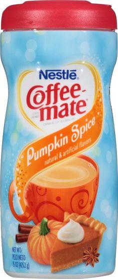 Pumpkin spice drinks!  Coffee mate pumpkin spice creamer.  #pumpkin #pumpkinspice #spice #drinks