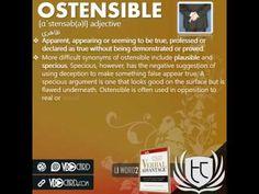 ویدیوکارد کلمه ostensible از کتاب Verbal Advantage – درس ۱