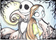 Jack and Sally drawnings with color pencil. Sally was been retaken from another that i've seen on deviantart. Please don't steal it. Jack e Sally di Nightmare before Christmas. Ho ripreso lei da un...