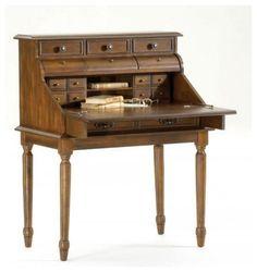traditional style secretary desk - 604×640