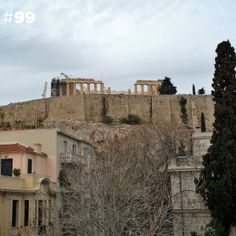 The Acropolis as seen from 100 different rooftops of Athens Acropolis, Athens, Greece, Rooftops, Mansions, Iphone 5s, House Styles, City, Magic