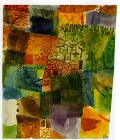 remembrance of a garden ~ watercolor ~ by paul klee
