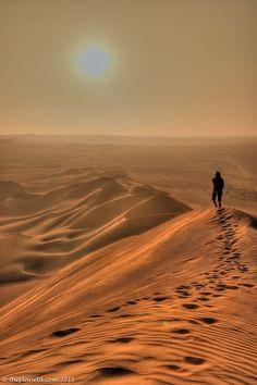 Get lost in the desert.