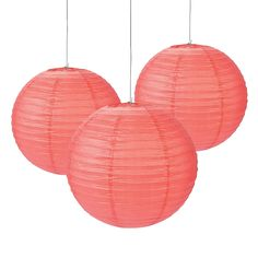"Coral Paper Lanterns - OrientalTrading.com. 18"". set of 6.  $26.50"