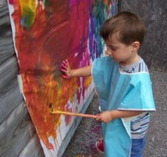 Outdoor painting wall