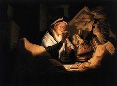 La parabole de l'homme riche (1627) de Rembrandt. L'Homme riche est une parabole de Jésus-Christ dans l'Évangile selon saint Luc. Elle proclame qu'il faut être généreux.
